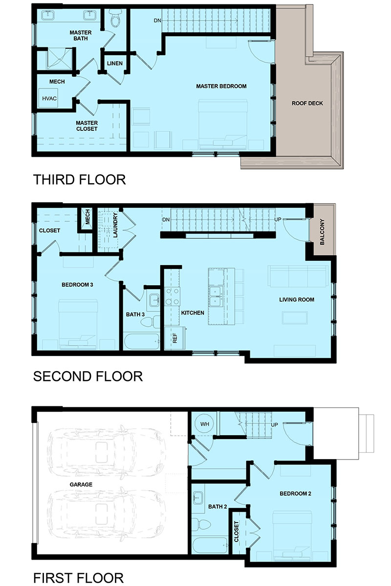 James Vernon Townhomes - 2AVES - Floor Plan - Tenn