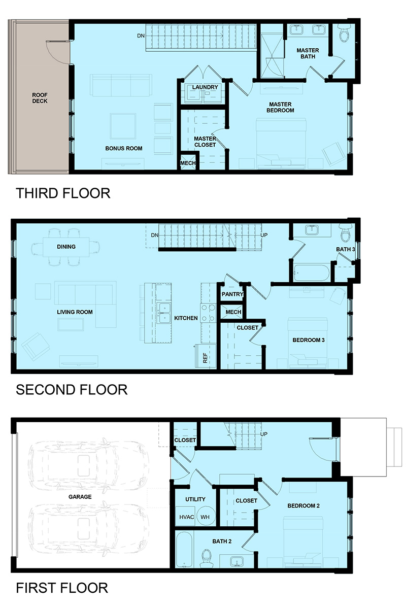 James Vernon Townhomes - 2AVES - Floor Plan - Whiskey