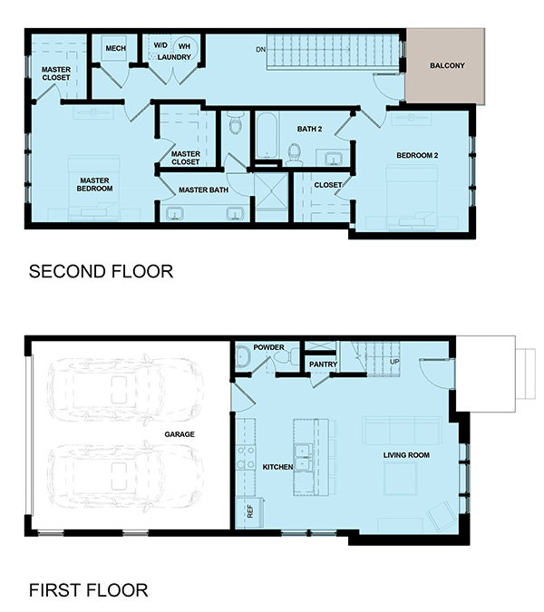James Vernon Townhomes - 2AVES - Marketing Elevations - Unit 1 Floor Plan