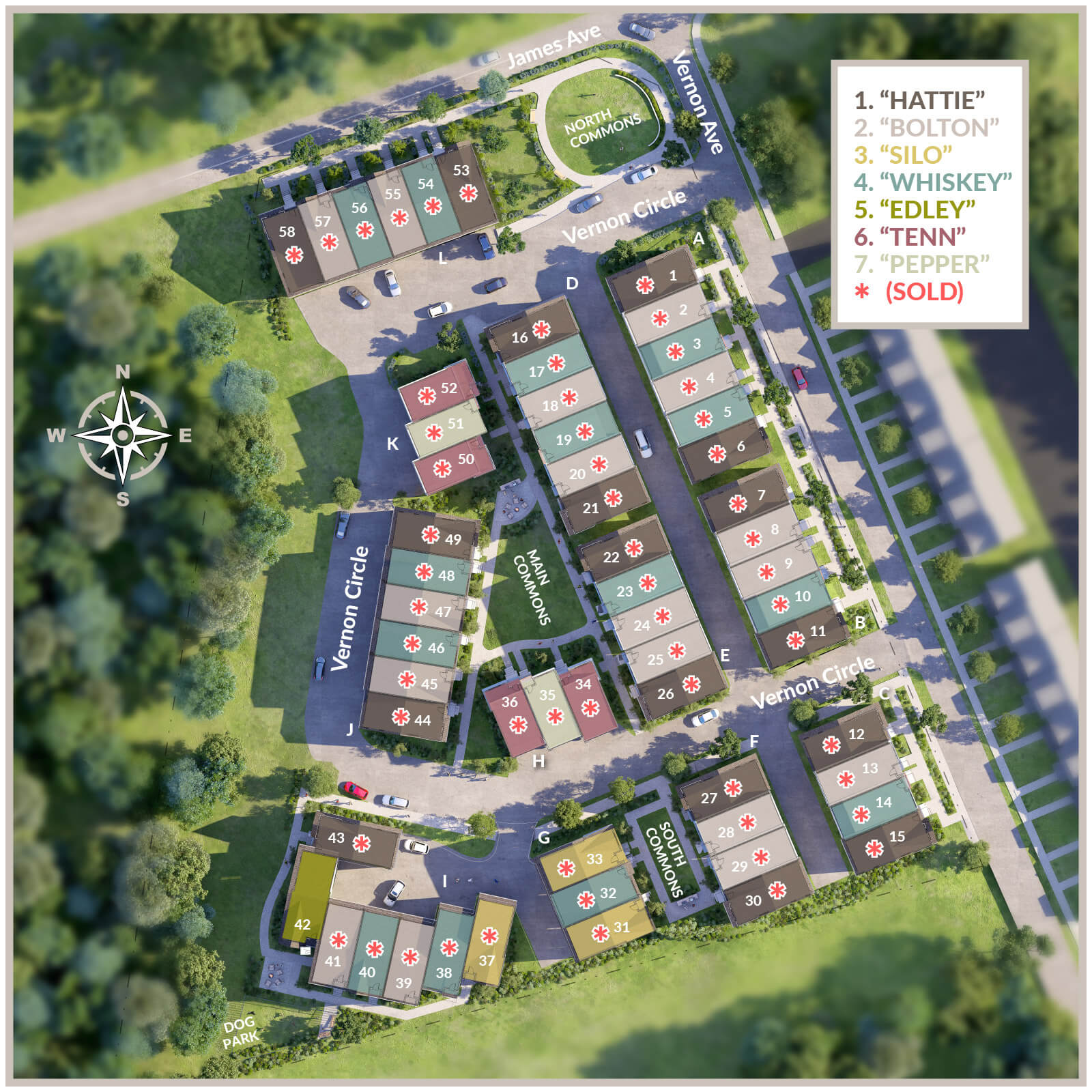 See where your new 2AVES townhome could be on our Community map.